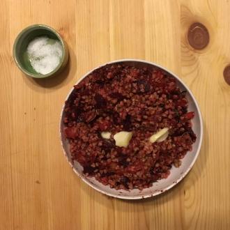 buckwheat kasha beet porridge recipe
