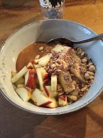 """""""Bougie porridge"""" at a porridge restaurant in Denmark"""