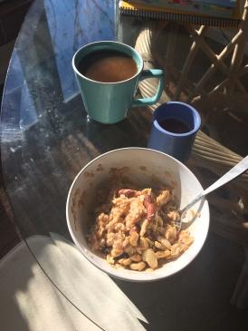 Grapefruit cashew coconut milk porridge