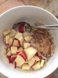 Christina's mom's homemade peanut butter in porridge