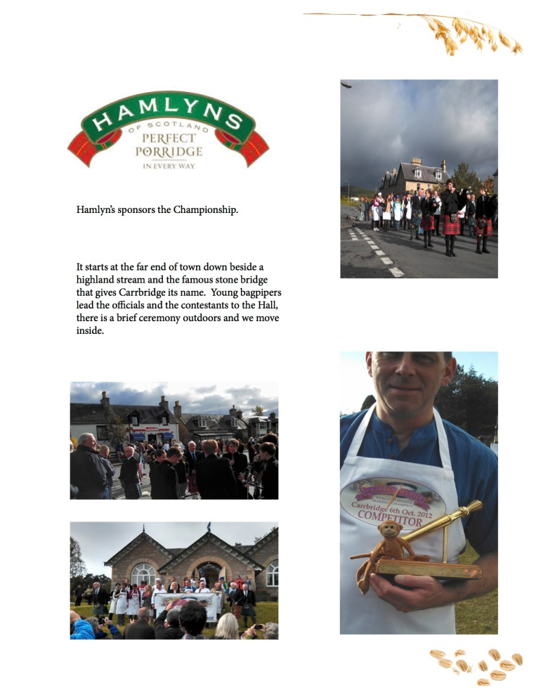 hamlyns scottish oats porridge competition