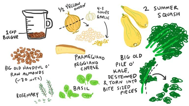 summer bulger ingredients