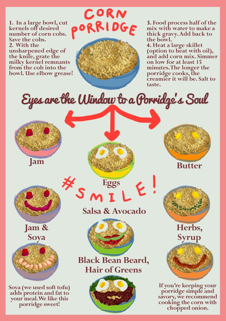 world porridge day recipe graphic