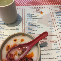 T-28 Cafe in San Francisco, dry scallop porridge