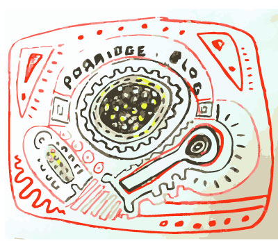 porridge.blog drawn in Mexican design motif
